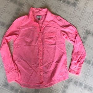 J crew the Boy Shirt Neon Pink Buttondown